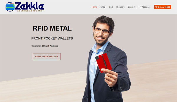 Zekkle RFID Metal Front Pocket Wallets